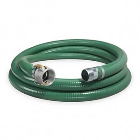 """2"""" x 20' Suction Hose Coupled Male x Quick Connect"""
