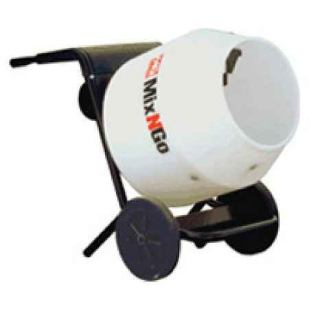 Multiquip MixNGo with 115V motor and Poly Drum
