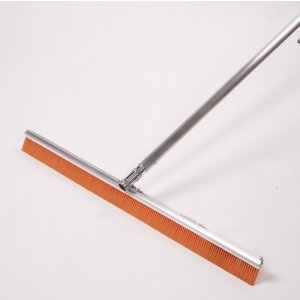 "72"" Chameleon Concrete Broom (Single Brush System) with Orange"