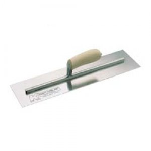 "Concrete Finish Trowels with Wood Handle 12"" x 4"""