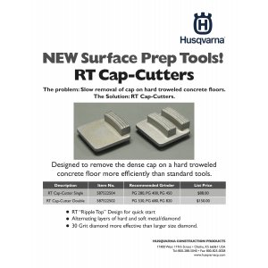 Husqvarna Cap-Cutter Diamond Inserts for Grinders 587522504