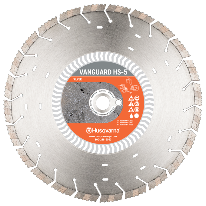 "14"" Husqvarna Vanguard HS-5 Diamond Blade"
