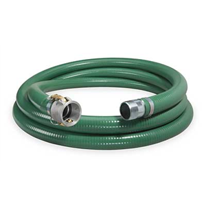 """3"""" x 20' Suction Hose Coupled Male x Quick Connect"""